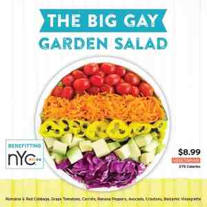 big gay garden salad