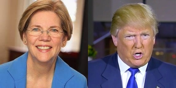 Elizabeth Warren Donald Trump