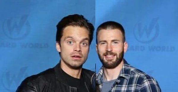 Captain America and the Winter Soldier Made Out in Front of