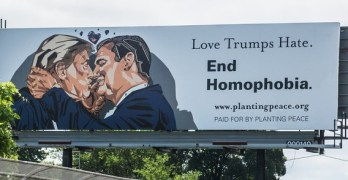 billboard trump cruz kiss