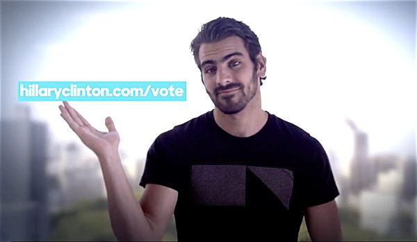 Nyle DiMarco Hillary Clinton