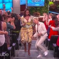 Ellen Welcomes Michelle Obama, and Bradley Cooper's Wardrobe Malfunction: WATCH