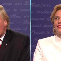 Hillary Clinton Feasts on Donald Trump in the Third SNL Presidential Debate: WATCH