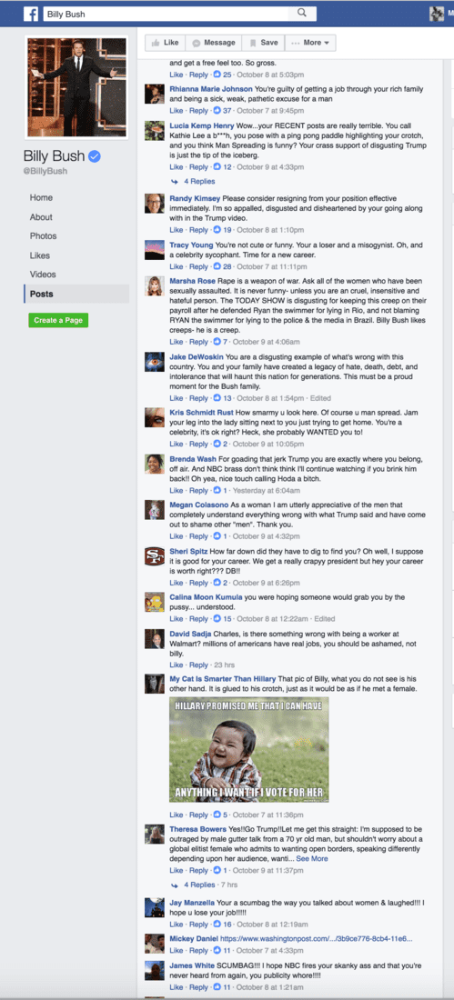 Billy Bush Facebook