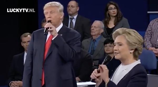 Trump Clinton dirty dancing debate duet