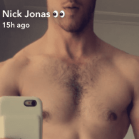 Nick Jonas Bares His Fuzzy, Sculpted Chest on Snapchat – LOOK