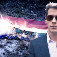 Homocon Scum Milo Yiannopoulos Burns Rainbow Flag in Pro-Trump Ad – WATCH