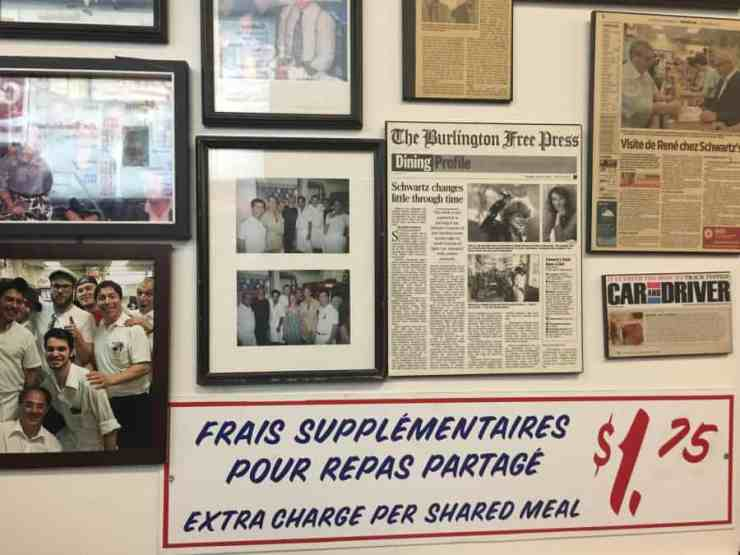 On the wall at Schwartz's of Montreal. Credit: Alina Simone