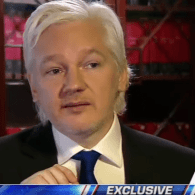 Julian Assange during a Jan. 3 interview with Fox's Sean Hannity