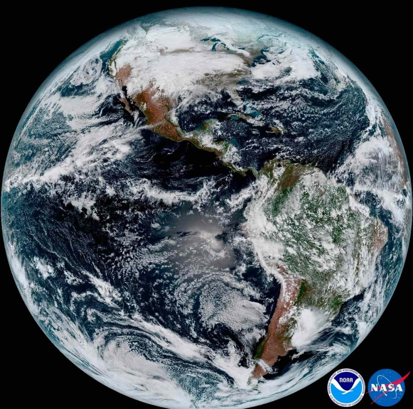 GOES-16 earth