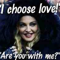 Madonna blowing
