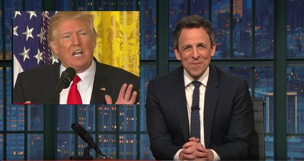 trump press conference seth meyers