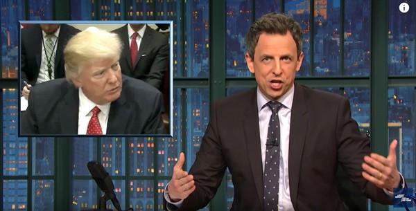 Donald Trump Seth Meyers surprise people