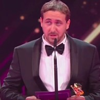 Fake Ryan Gosling Accepts Award in Elaborate Prank as Nicole Kidman, Colin Farrell, Jane Fonda Look On: WATCH