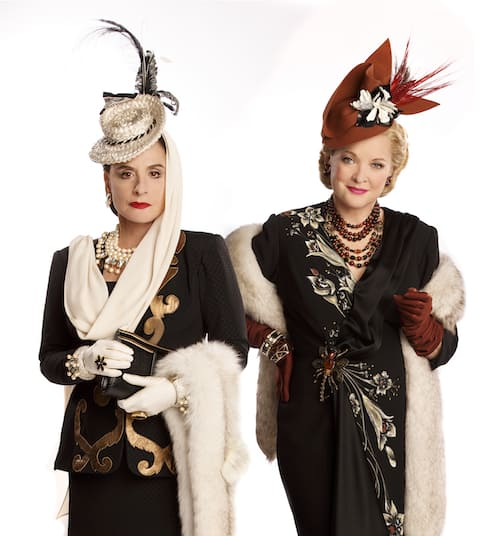 Patti LuPone and Christine Ebersole in WAR PAINT, photo by Joan Marcus 2016 war paint review