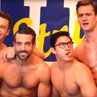 'Broadway Bares' Features the Big Men on Campus at 'Strip U' – WATCH