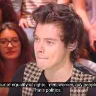 Harry Styles Sees Gay Rights as 'Fundamental' Not 'Political' – WATCH