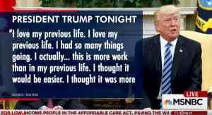 trump previous life