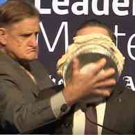 Gay Qantas CEO Pied in the Face by Christian Bigot Angry at Corporate Support for Same-Sex Marriage: WATCH