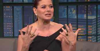 Debra Messing Seth Meyers
