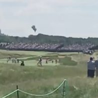 Blimp Crashes at U.S. Open: VIDEO
