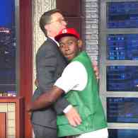 Stephen Colbert Hoped Tyler the Creator Would Talk About Coming Out as Gay, But Only Got a Butt Grab: WATCH