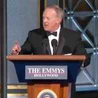 Sean Spicer Surprise Emmys Cameo Elicits Gasps from the Audience, Cursing from Twitter: WATCH