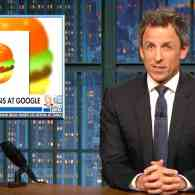 Seth Meyers Rips FOX News for Covering Cheeseburger Emojis Instead of the Mueller Indictments: WATCH