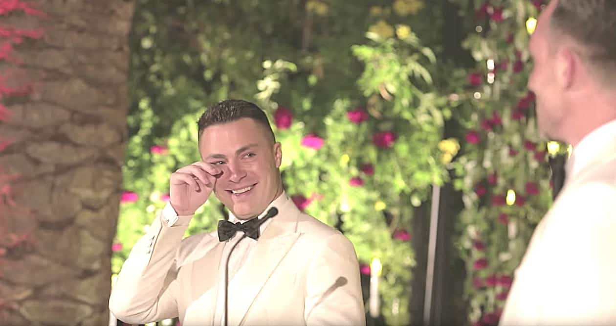 Colton Haynes Is Overcome With Emotion In Newly Shared Wedding Video