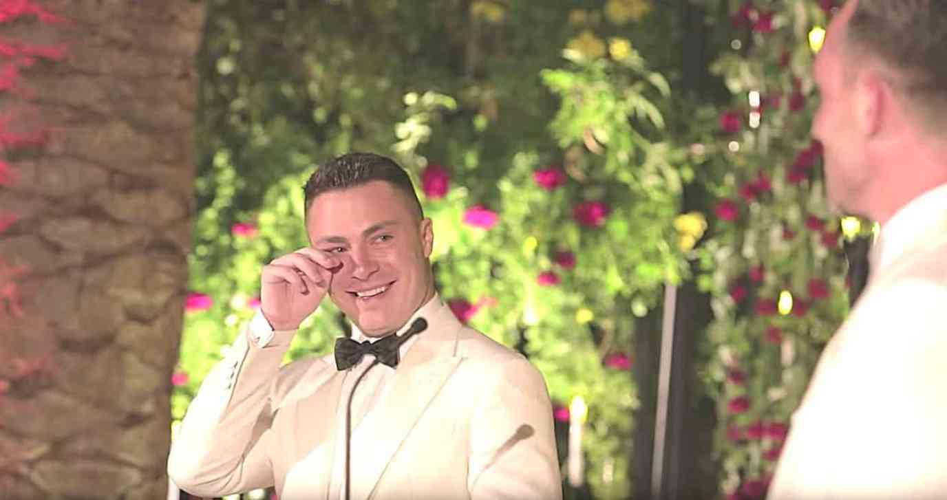 Colton Haynes wedding video