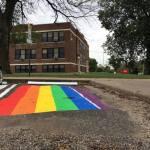 rainbow flag parking