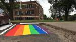 rainbow flag parking