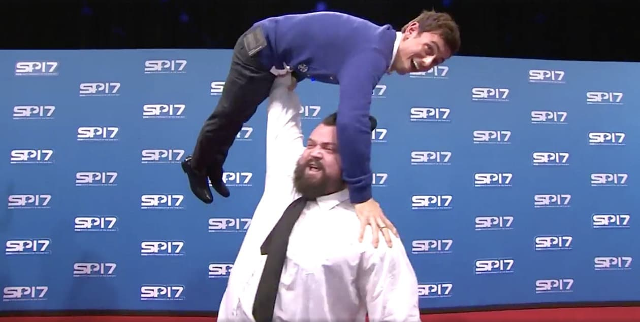Worlds Strongest Man Has Tom Daley Right Where He Wants Him WATCH