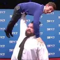 World's Strongest Man Has Tom Daley Right Where He Wants Him: WATCH
