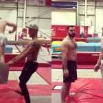 gymnasts flip shorts