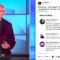 Ellen Responds to Eric Trump: 'I am Sorry to Disappoint…I am Not Part of the Deep State' – WATCH