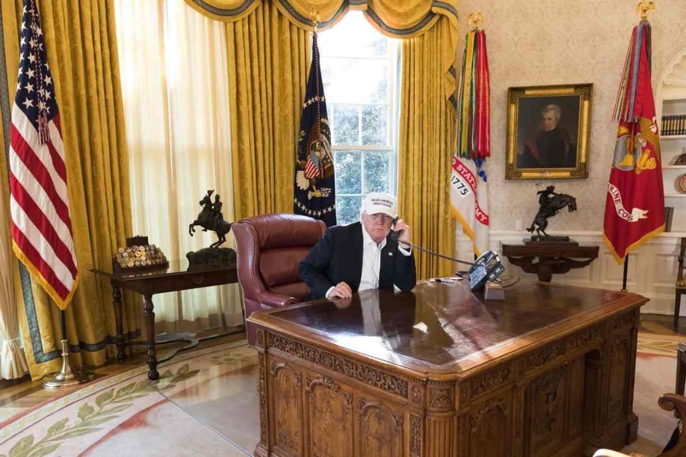 trump working photos