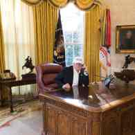 trump working photo
