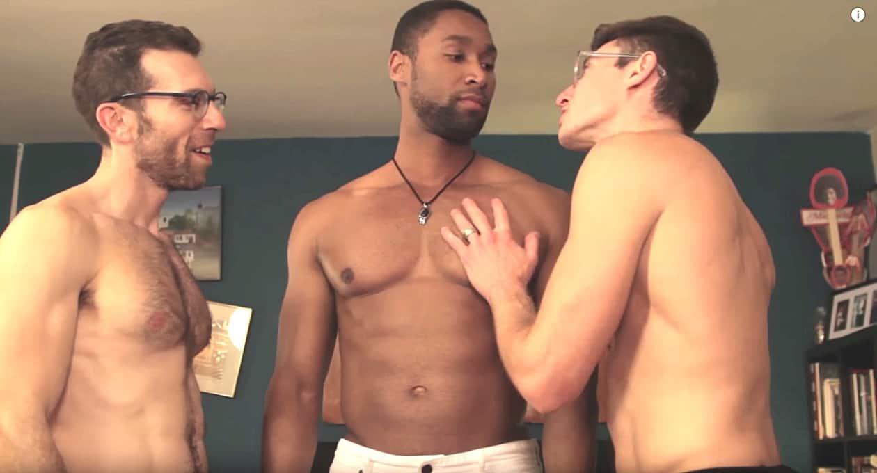 Boy first gay story threesome
