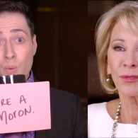 Randy Rainbow Grills Betsy DeVos About Her 'Reckless, Discriminatory, Half-Ass Solutions' for Schools: WATCH