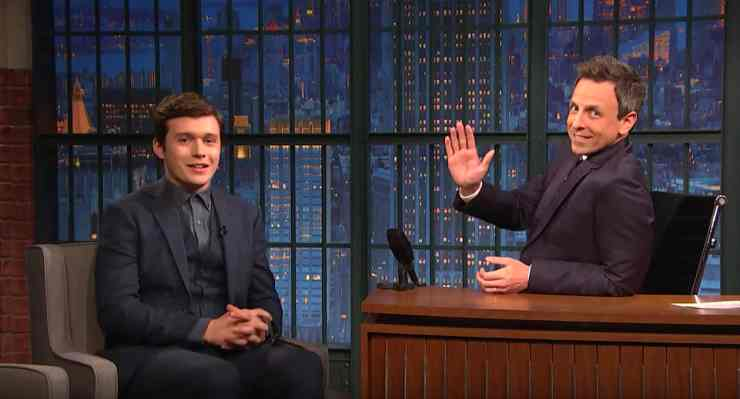 seth meyers gets to know nick robinson the star of the gay themed