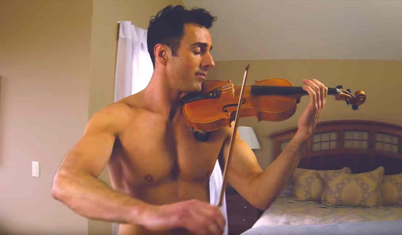 The Shirtless Violinist Serenades His Missing Boyfriend with