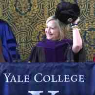 Hillary Clinton Trolls Trump with Russian Hat During Speech to Yale Grads: WATCH
