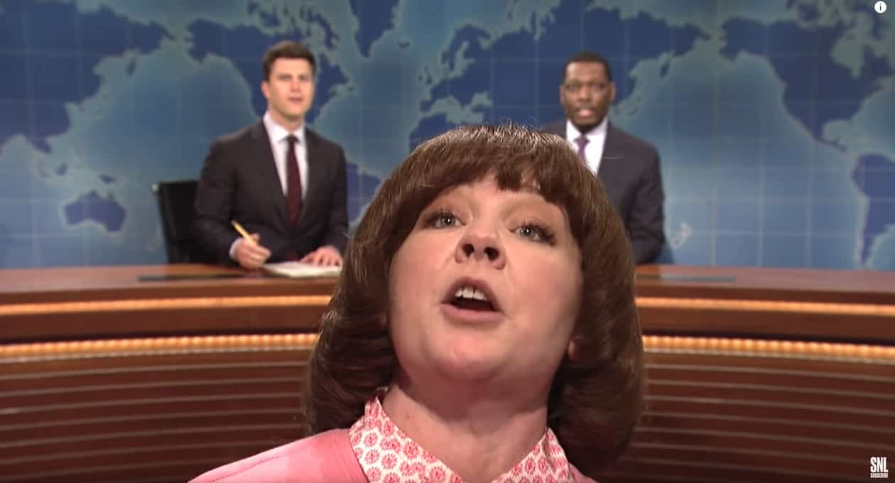 Melissa McCarthy Surprises Michael Che As The World's Proudest Stepmom On 'SNL'