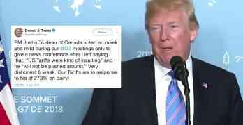 Trump Trudeau
