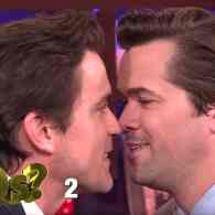 Matt Bomer and Andrew Rannells Get Uncomfortably Close for Andy Cohen…and Then Kiss: WATCH