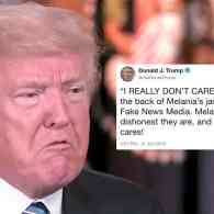 Trump: Melania's Jacket 'Refers to the Fake News Media'