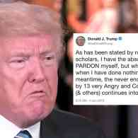 Trump Tweets He Has the 'Absolute Right' to Pardon Himself: 'But Why Would I Do That When I Have Done Nothing Wrong?'