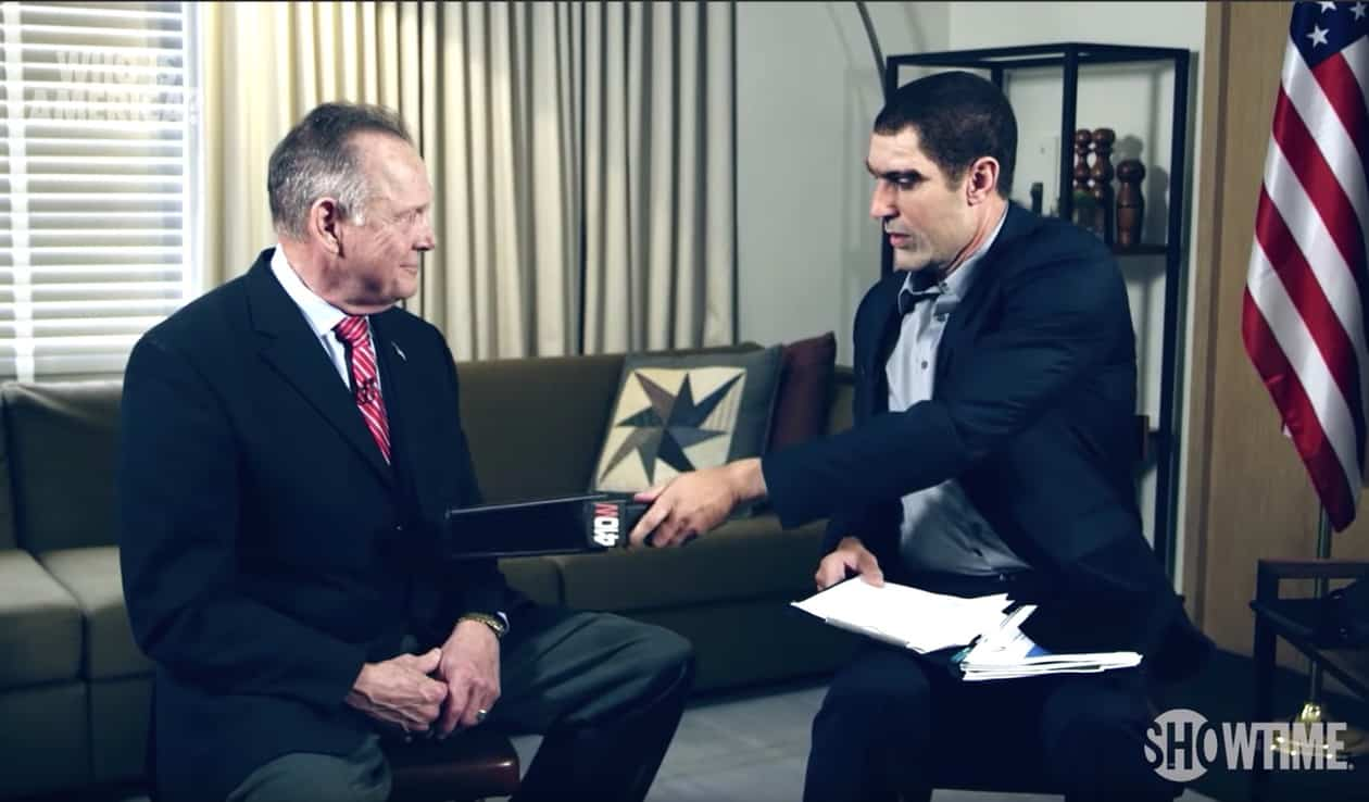 Sacha Baron Cohen confronts Roy Moore with 'pedophile detecting machine'