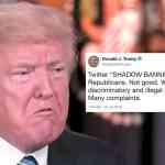 trump shadow banning